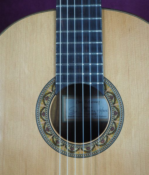 Dan Kellaway classical guitar luthier lattice