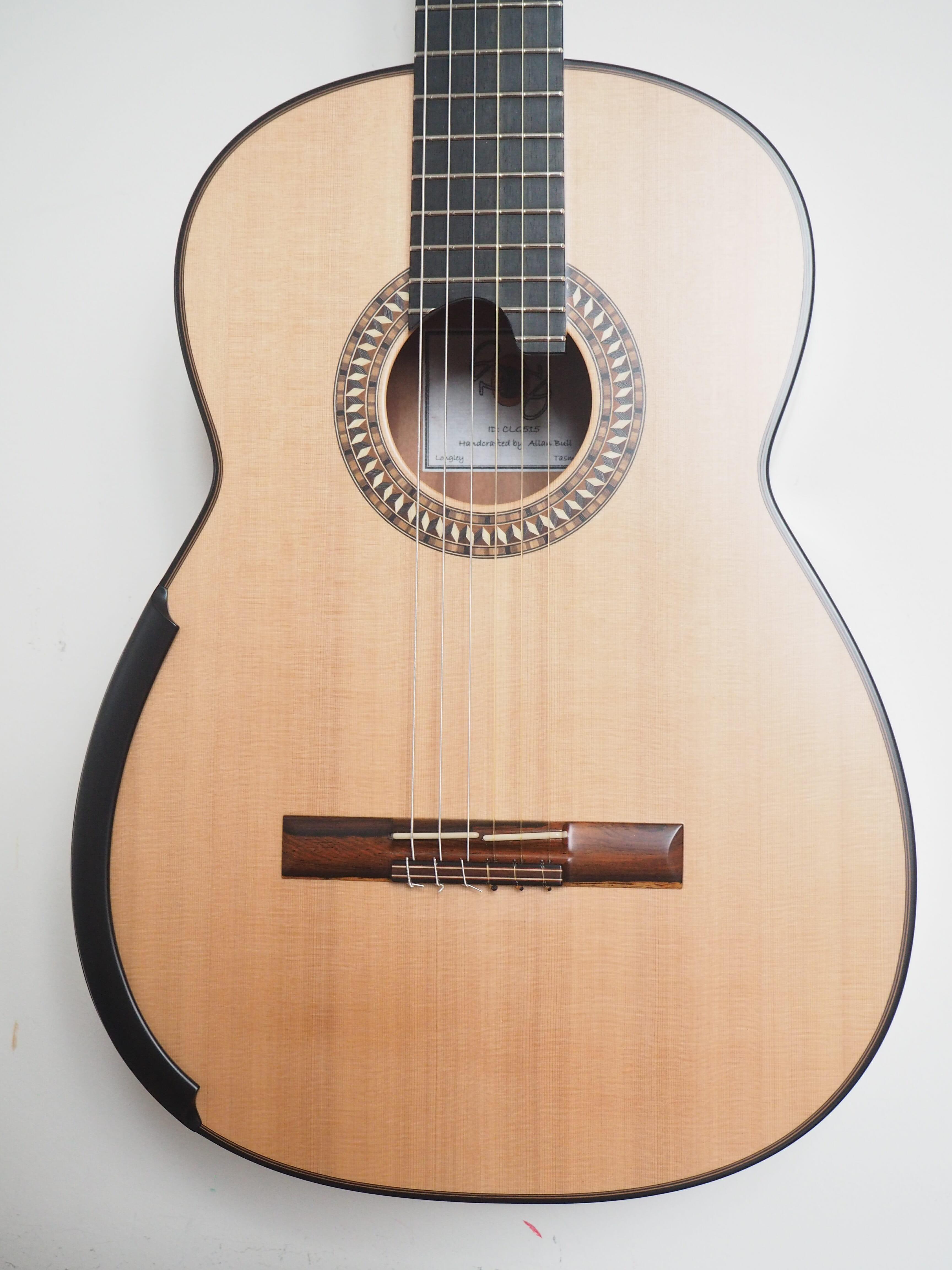 Allan Bull Classical Guitar Cedar Amp Tiger Myrtle Wood
