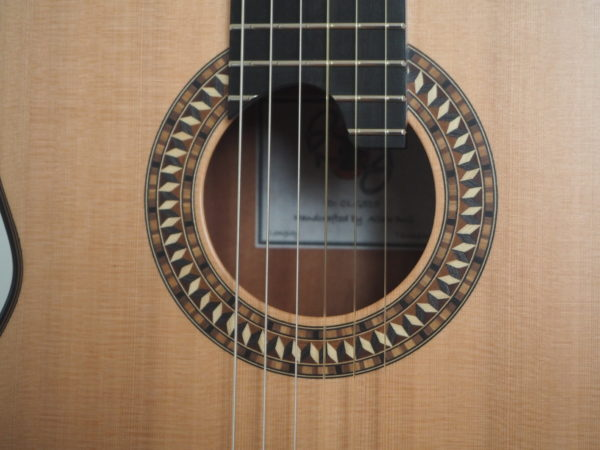 Allan Bull classical lattice guitar