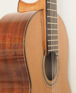 Dake Traghagen classical guitar luthier double-table