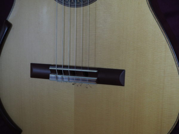 Jim Redgate classical guitar luthier lattice face down
