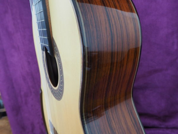 Jim Redgate classical guitar luthier lattice side three quarters high