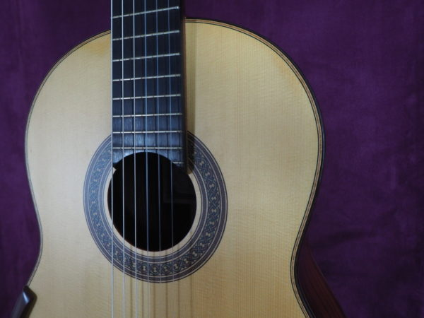 Jim Redgate classical guitar luthier lattice face up