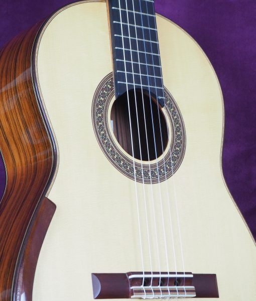Jim Redgate classical guitar luthier lattice front