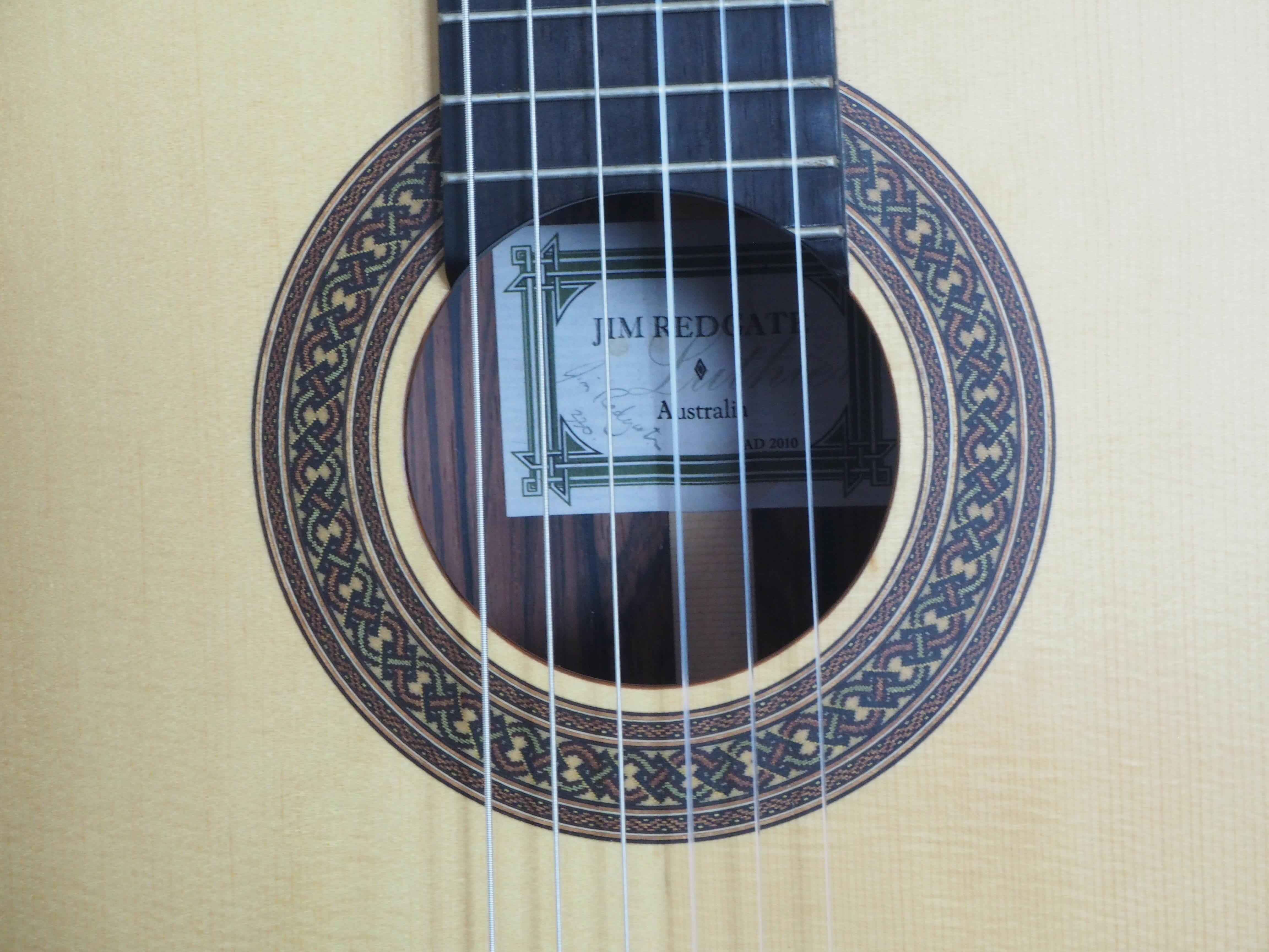 Luthier Jim Redgate 2010 classical guitar No  330