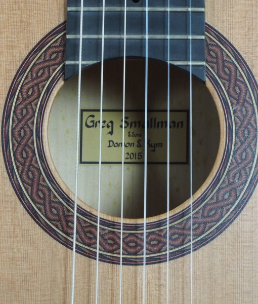 Greg Smallman & sons 2015 classical concert lattice bracing  guitar