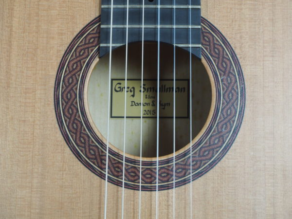Greg Smallman & sons 2015 classical concert lattice bracing  guitar