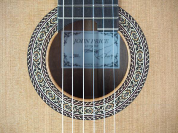 Guitarmaker John Price classical guitar No 382 19PRI382-02