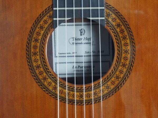 Luthier Dieter Hopf classical guitar Portentosa Evolucion No 5068-03