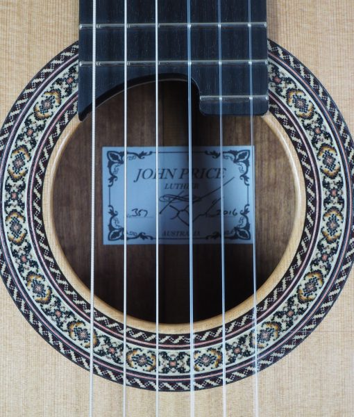 John Price luthier classical lattice guitar