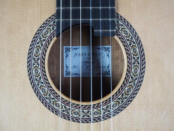 John Price luthier classical lattice guitar