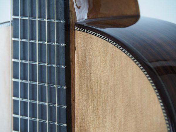 Luthier Stanislaw Partyka classical guitar fingerboard cedar top