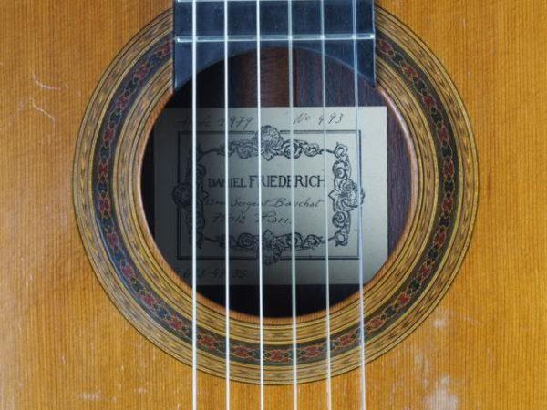 Luthier Daniel Friederich classical guitar No 493-04