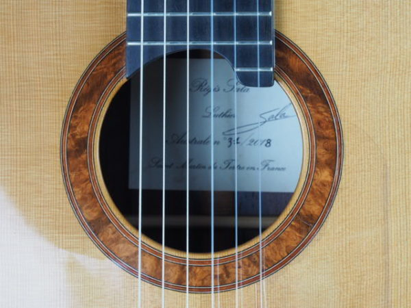 Luthier Regis Sala classical guitar Australe lattice No 2018 37-02